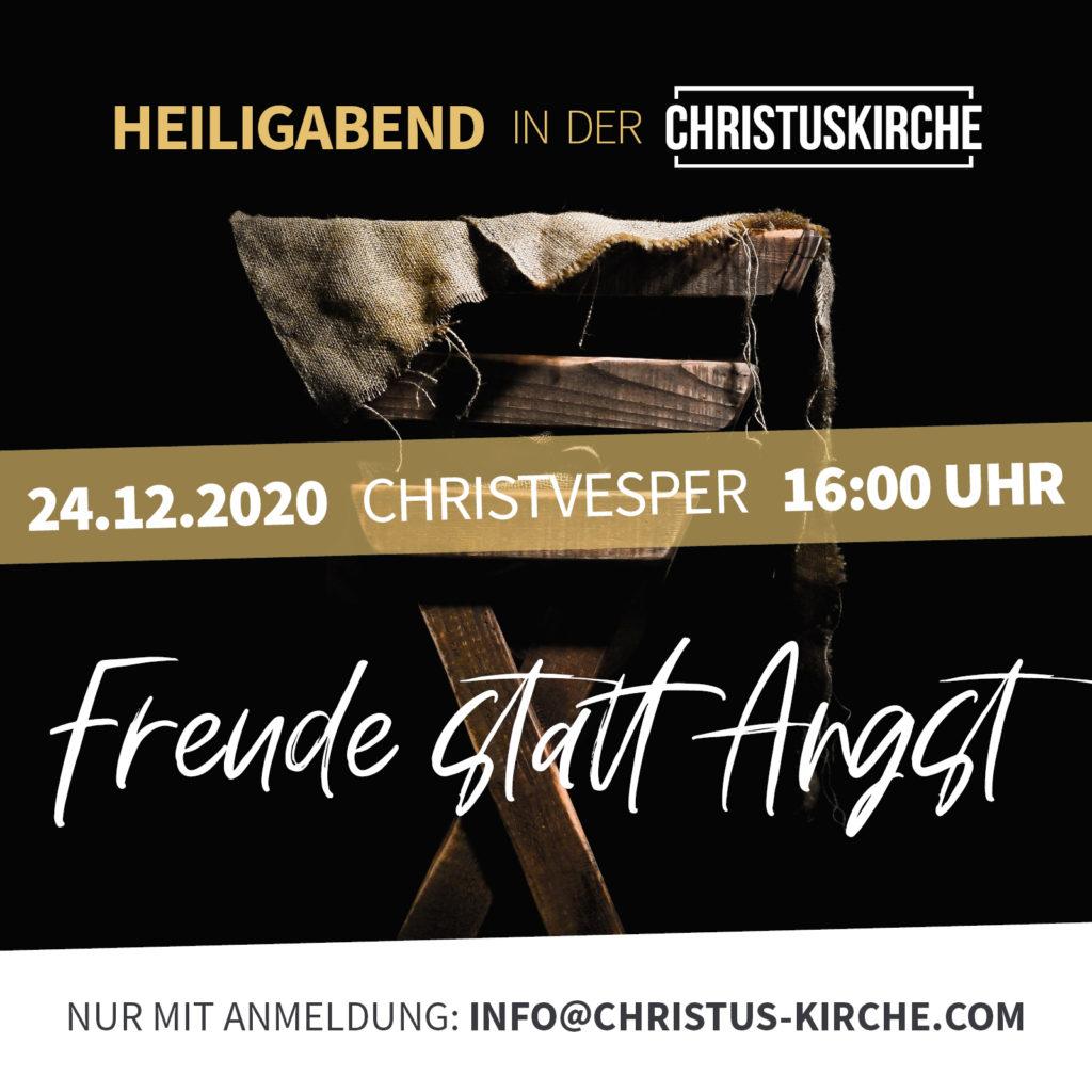 Heiligabend 2020 in der Christuskirche Lemke